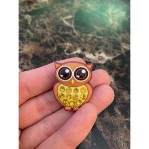 Owl Croc Charm